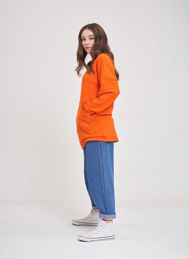 Mizalle Youth Sweatshirt Oranj